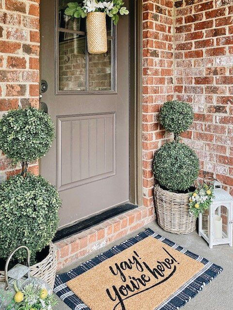 Layered Doormats For Spring — She Gave It A Go