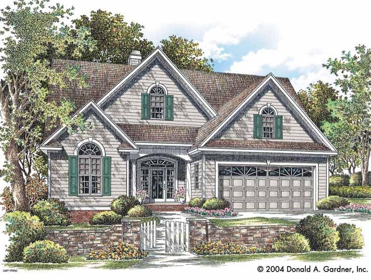 nice open kitchen & MB closets New American House Plan1729