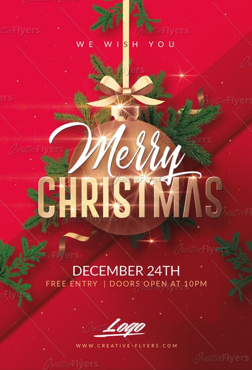 f  free printable christmas party flyer template