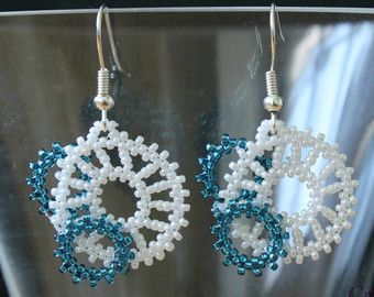 pendientes de perlas pendientes colgantes por CreationsLaetiRose