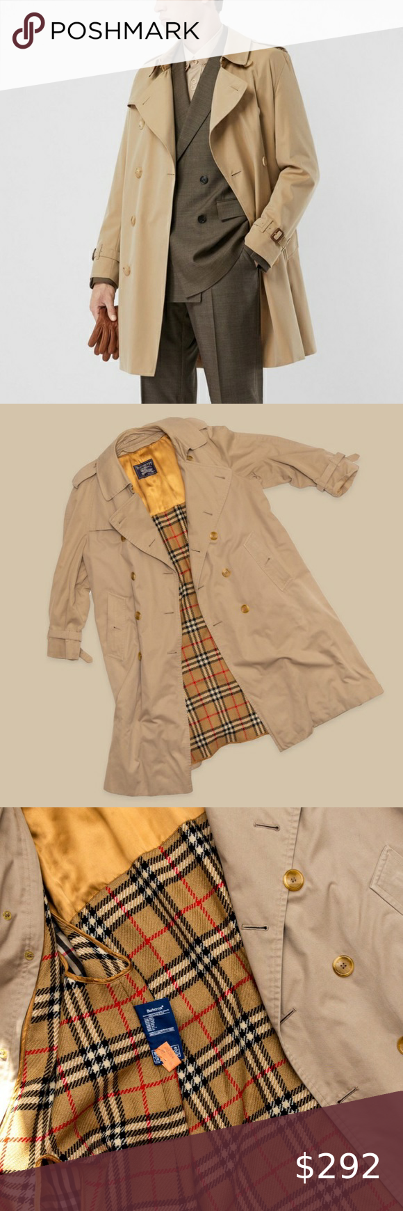 Burberry Men S Vintage Trench Coat Burberry Vintage Tan Trench Coat Condition Used But Good Size L Burberry Jackets Coa Trench Coat Vintage Coat Fashion