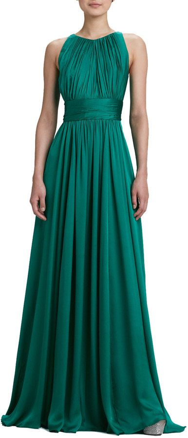 Badgley Mischka Collection Sleeveless Pleated Gown | Bridal Guide ...