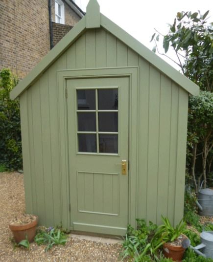 Shed Heads Readers Share Photos Of Their Garden Sanctuaries Shed Painted Shed Breakfast Room Green