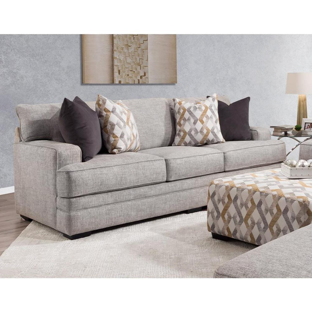 Moore Furniture Protege Stationary Sofa In Dove Nebraska