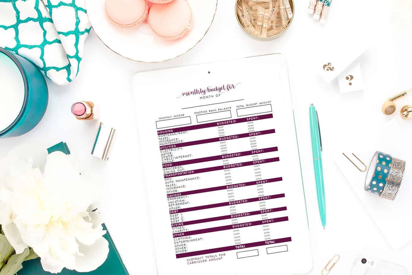 Learn How To Use A Simple Budget Worksheet To Create A