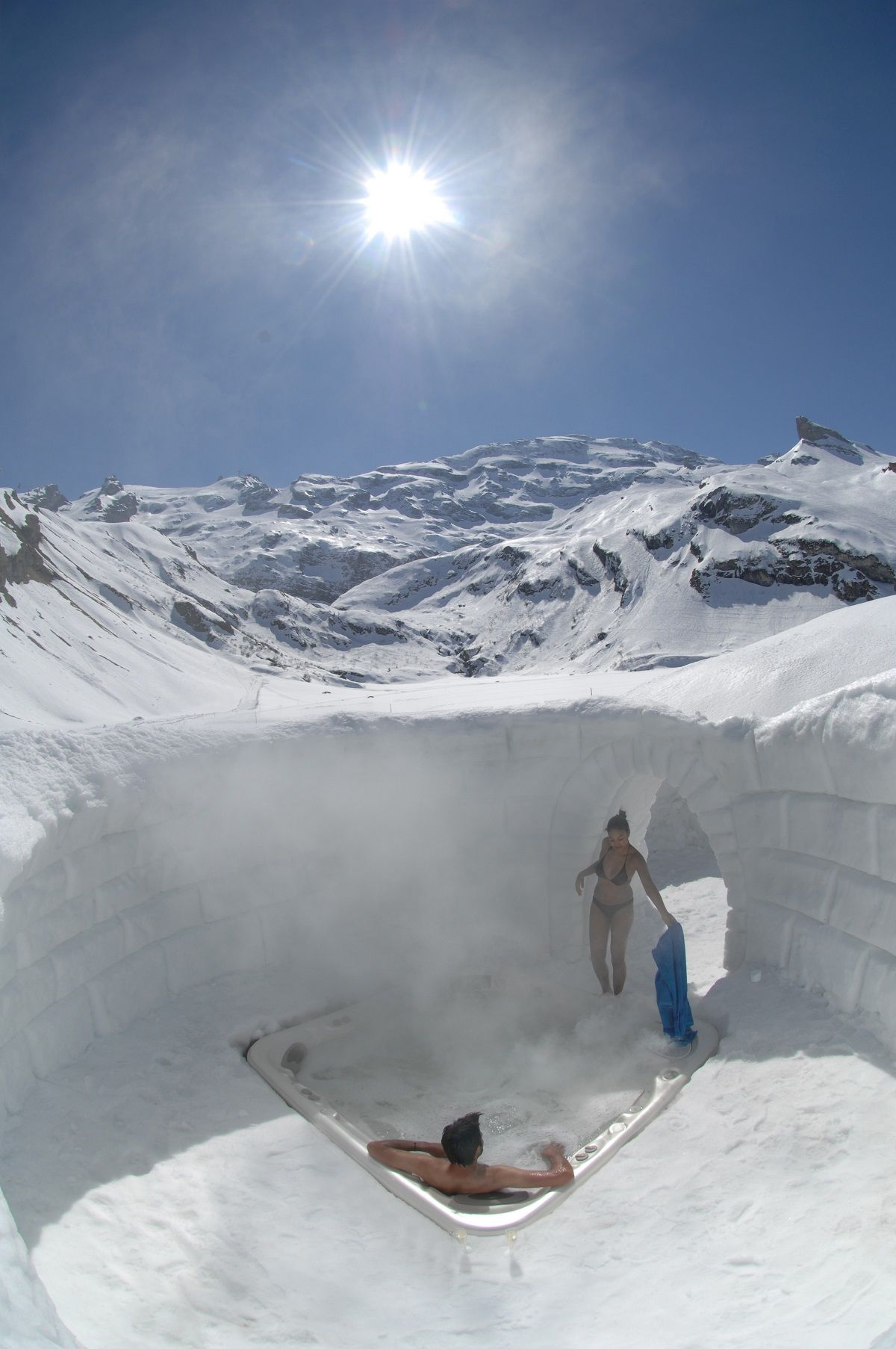 Snow And Ice Hotels In Europe Outdoor Spaces