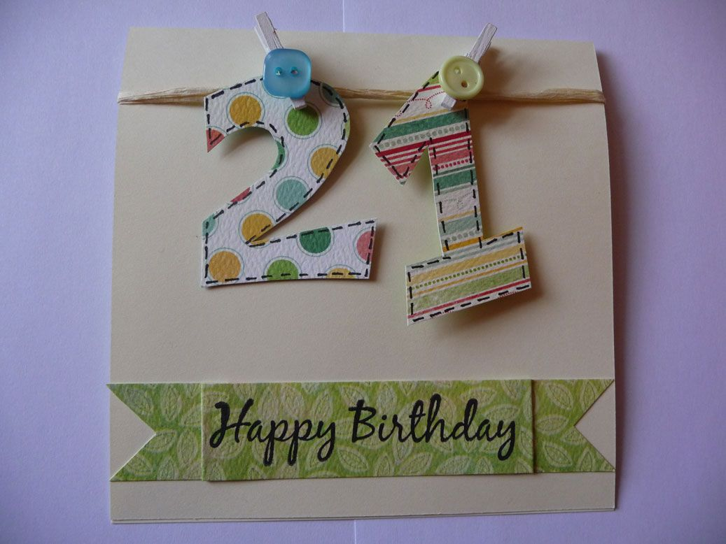 Image Detail for Got a card to share with you today This is a – 21 Birthday Card