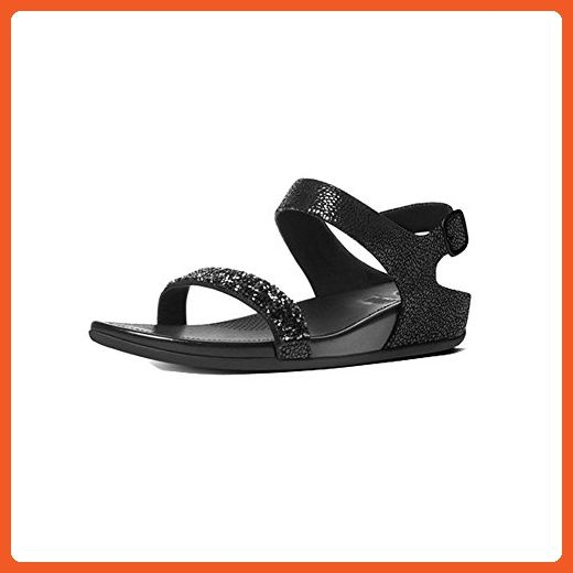 8e4f49bce673 FitFlop Womens Banda Roxy Sandals (Black