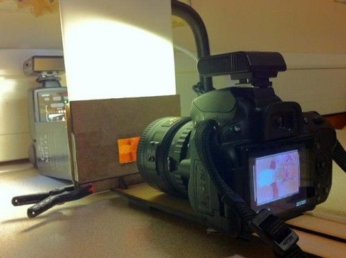 make a film scanner out of your dslr and a few other pieces of