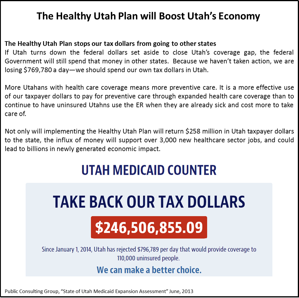 Not Only Will Implementing The Healthy Utah Plan Return 258