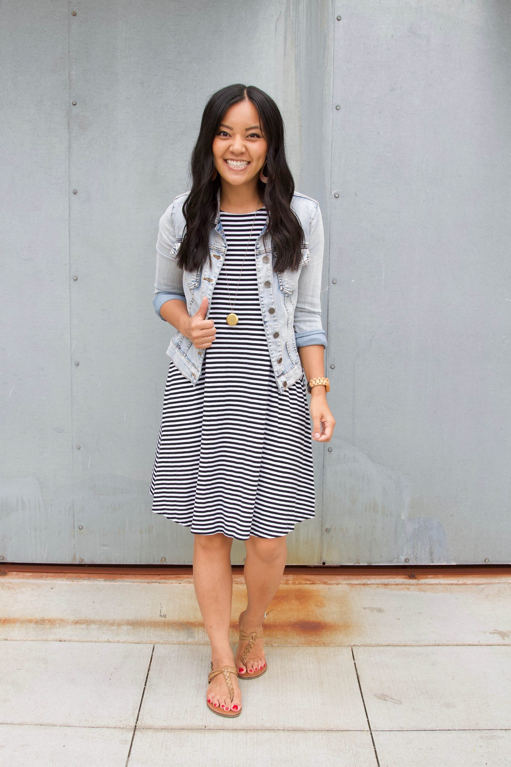 5 Ways To Wear A Striped Dress Or Any Dress This Summer Striped Dress Outfit Summer Dress Outfits White Striped Dress Outfit [ 2560 x 1707 Pixel ]