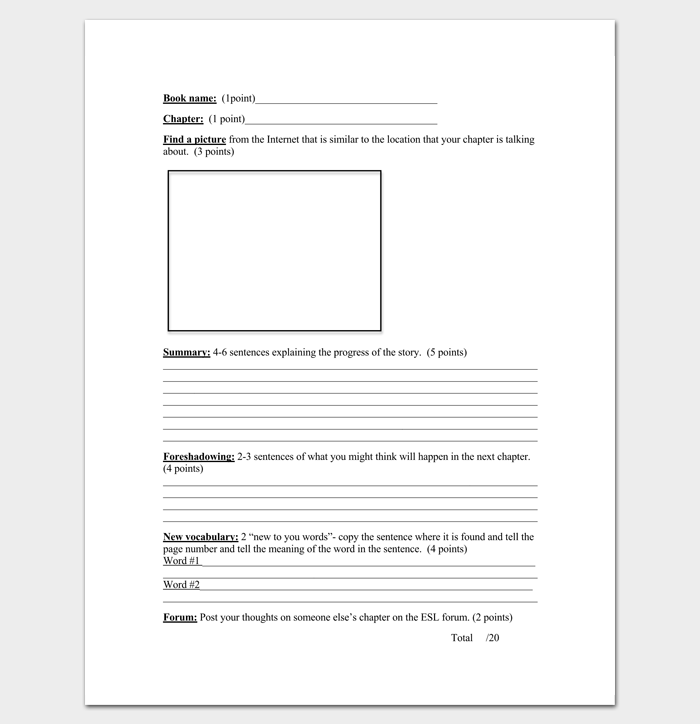 Blank Chapter Outline Template – Chapter Summary Template
