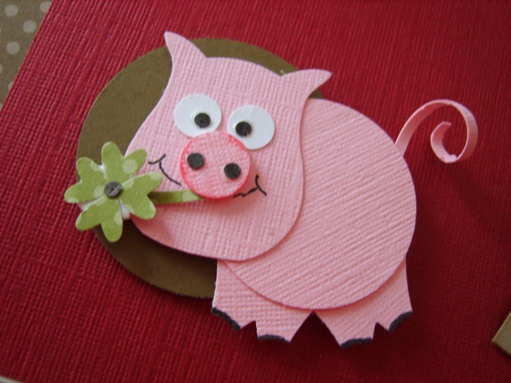 Поделки или открытки на новый год свиньи, цветик семицветик своими