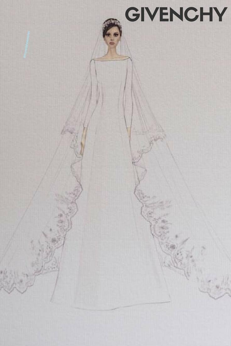 Givenchy rendering for the royal wedding dress royalwedding