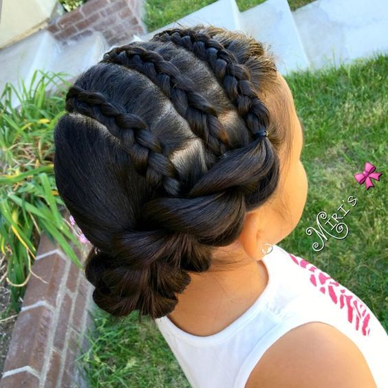 Cute protective style for kids | Little girl hairstyles ...