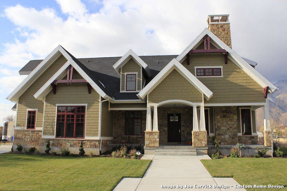 Craftsman Home Exterior exterior paint colors that go with blonde brick with craftsman