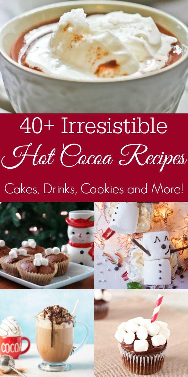 Recipes for Hot Chocolate Everything #hotchocolaterecipe