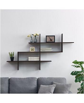 Danya B 3-Tier Wall Mount Shelf with Criss Cross Asymmetrical Design & Reviews - All Wall Décor - Home Decor - Macy's