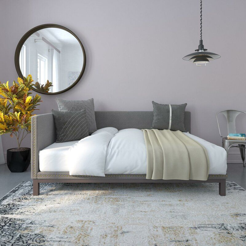 Carwile Metal Mid Century Daybed In 2020 Upholstered Daybed