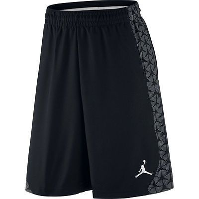 Nike Jordan Flight Mens Black White Design Basketball Woven Shorts 642245 M  Regular Medium