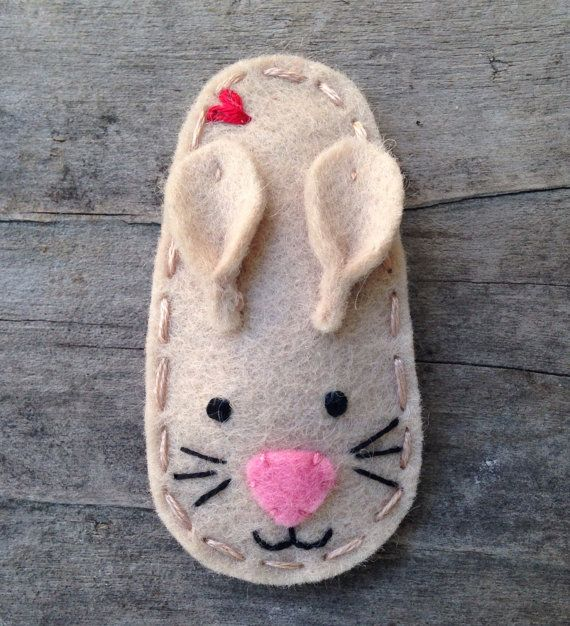 Animal Series Rabbit Wool Felt Hair Clip by sundropclips on Etsy, $6.00 #hairclips