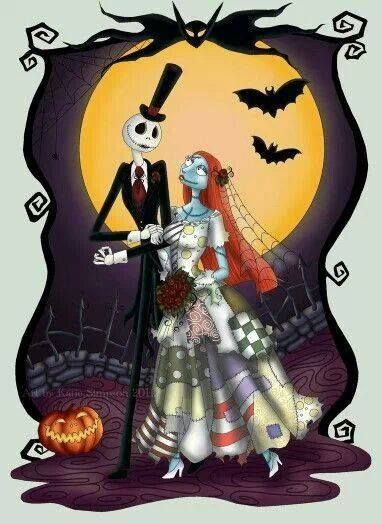 jack and sally wedding i am the pumpkin king