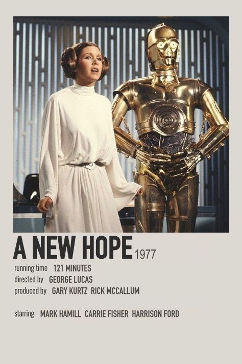 Star wars a new hope polaroid movie poster