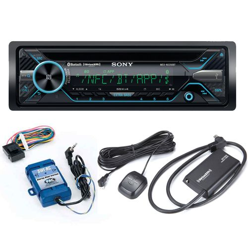 Sony MEX-N5200BT CD Receiver with Bluetooth and Sirius XM tuner and Steering Wheel Control Interface bundle