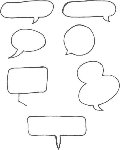 Sketch Notes >> Speech bubbles