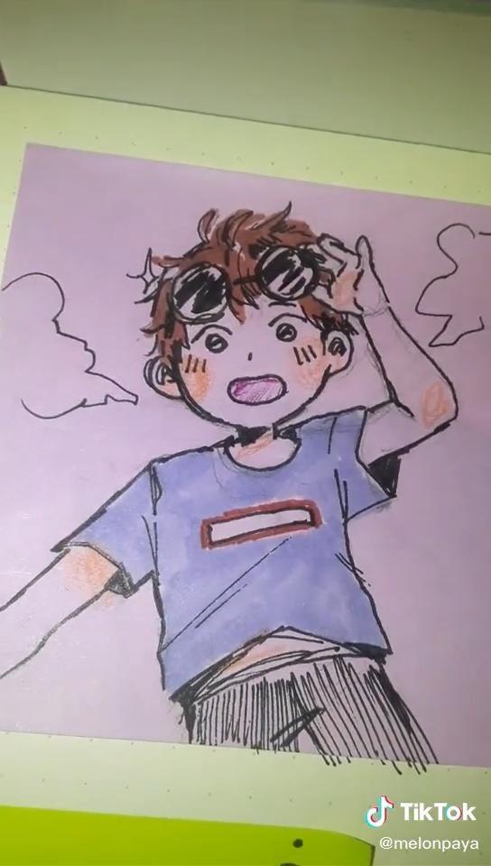 Paya!🍊(@melonpaya) on TikTok: geroge doodle :) als