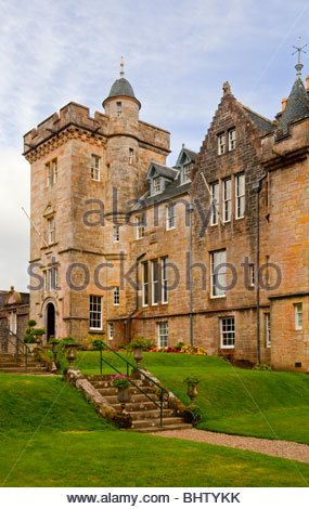 Torosay Castle near Craignure on the Isle of Mull in the Inner Hebrides western Scotland built 1858 in Scottish - Stock Image