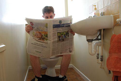 6 Monate auf der Toilette.