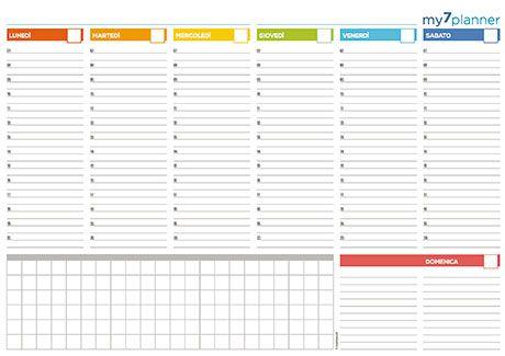 Planner settimanale da tavolo stampabili pinterest - Agenda da tavolo settimanale ...