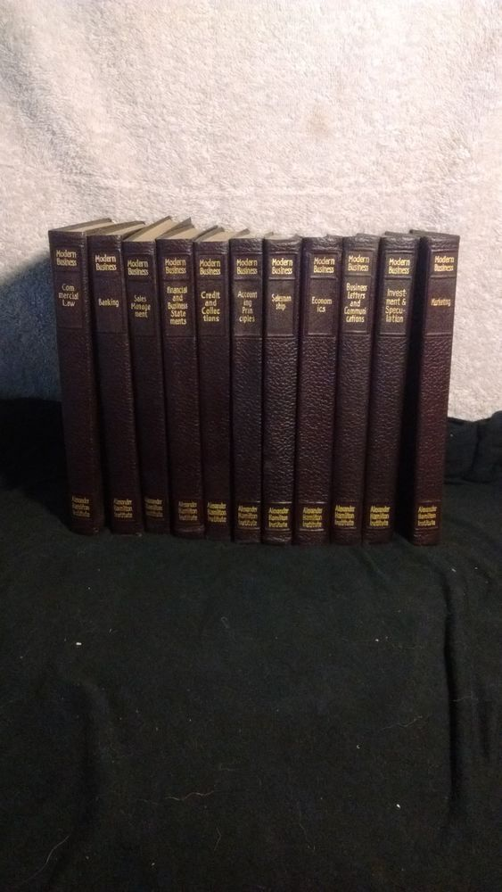 Modern Business Alexander Hamilton Institute set of 11 books 1950 edition #TextbookBundleKit