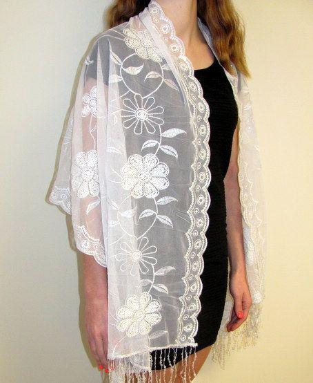 Sequin Shawl Peacock Heart Scarf Wrap Fringe Fashion Gift Elegant Embellish