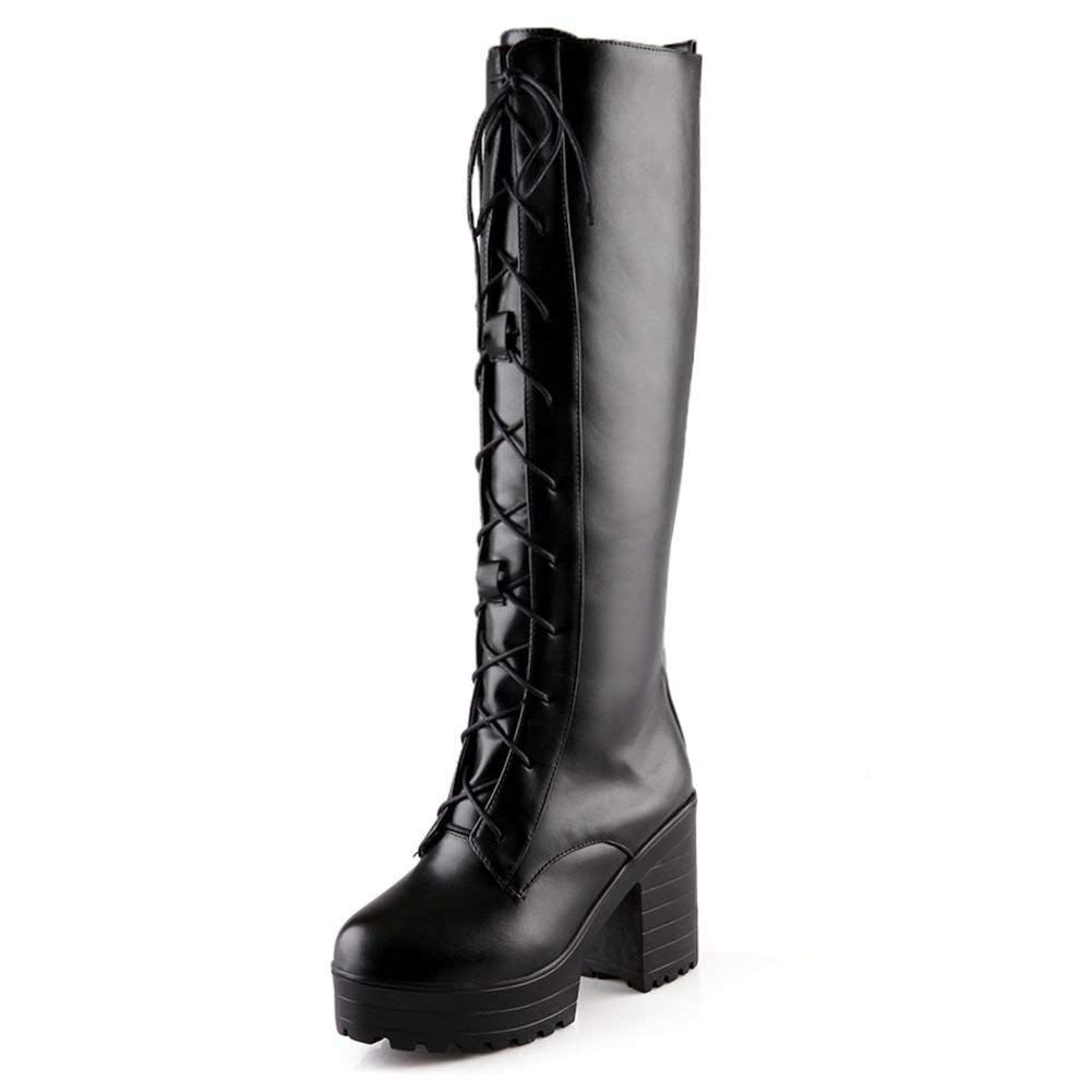 9b2b2366b2f Calvin Klein Womens Garcella Leather Almond Toe Knee High Riding Boots --  Nice of your presence to have dropped by to view th…