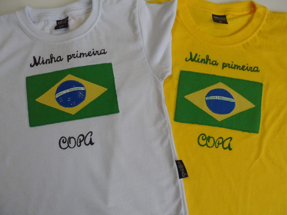 Camiseta infantil bordada 474e6b96739