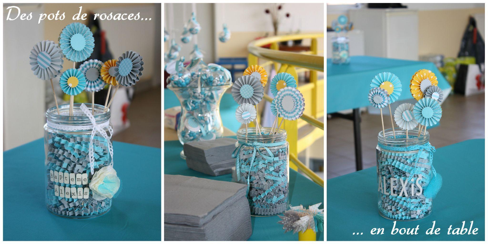 Idee Deco Table Bapteme Garcon #14: Rosaces Baptême Déco Bapteme Garçon Bleu Jaune Gris Boy Blue Party Bubble  Bulles Deco Party Bubbles
