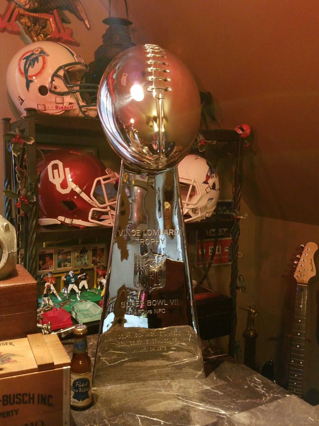 My Replica Miami Dolphins Super Bowl Trophy from the 1972