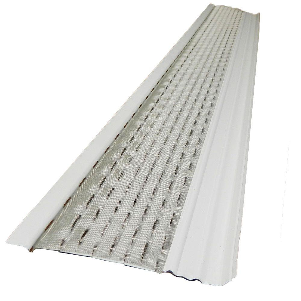 Gibraltar Building Products 4 Ft X 5 In Clean Mesh White Aluminum Gutter Guard 25 Per Carton 99441 The Home Depot In 2020 Gutter Guard Gutters Gutter