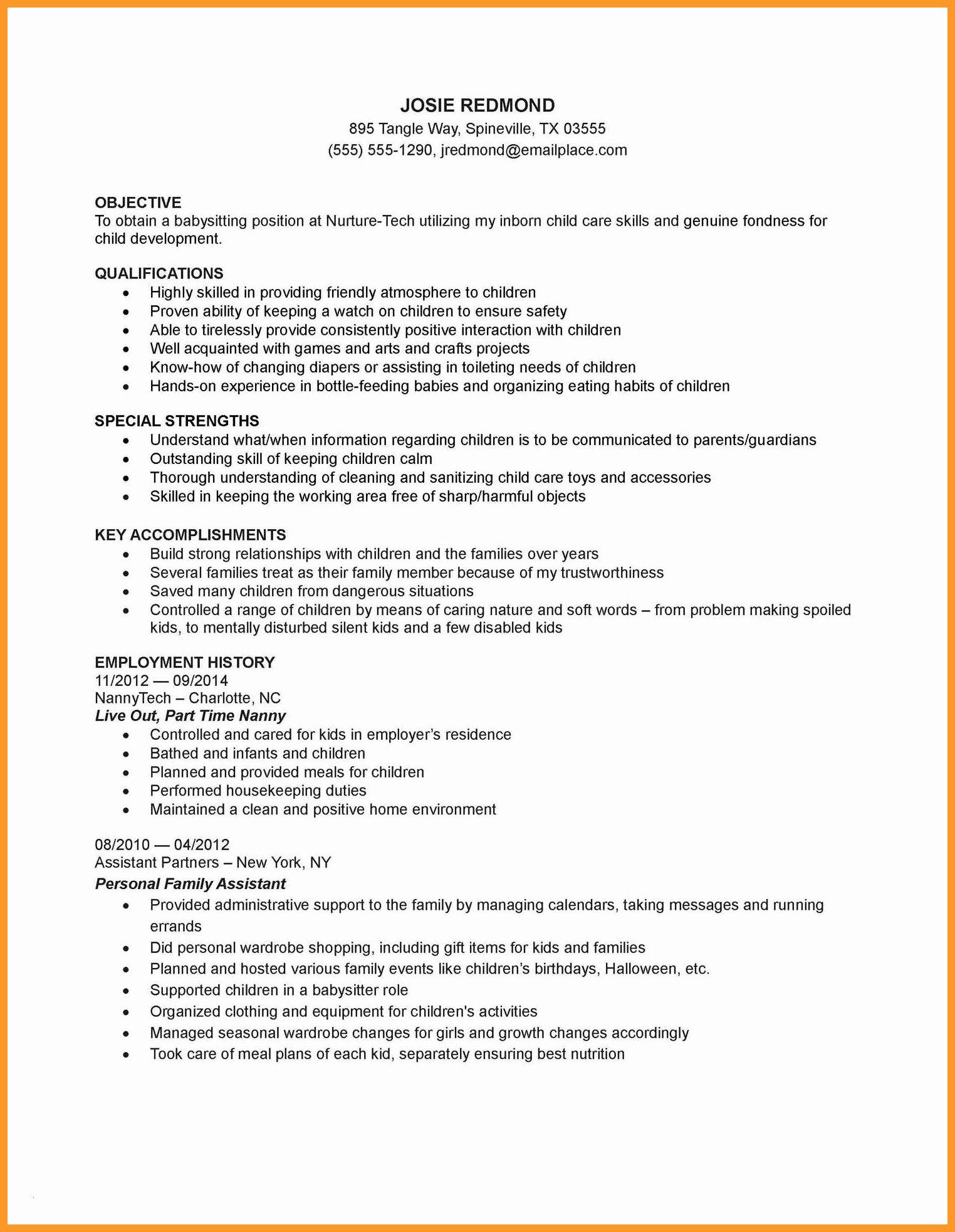 Child care job description resume awesome 9 10 child care