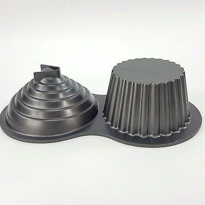 Wilton Non Stick GIANT 3D Cupcake Cake Mold Baking Pan Heavy Duty Pro-Baking 2pc for sale online | eBay