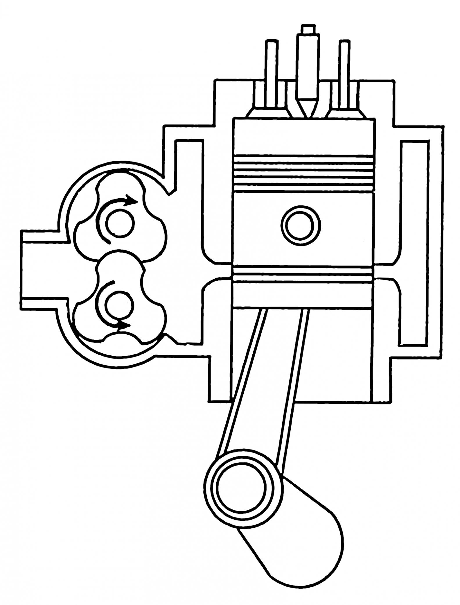 Two Stroke Diesel Engine Line Diagram di 2020