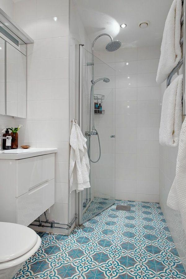 Badezimmergestaltung Mit Bodenfliesen Kleines Bad Einrichten