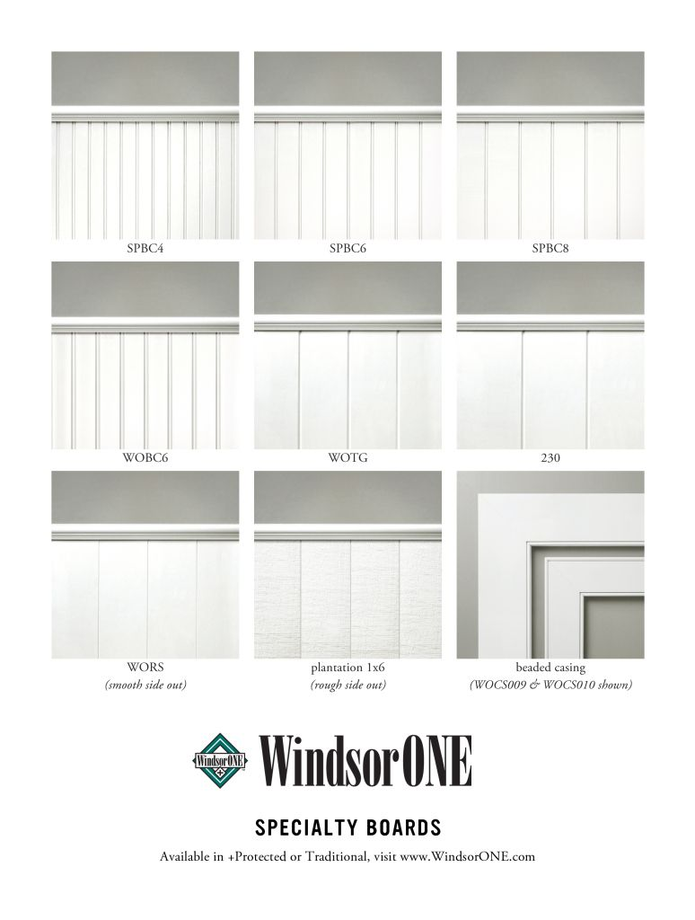 A Side By Side Comparison Of The Windsorone Specialty Boards Tongue Groove Shiplap Beaded Casing For Wainscotin Ship Lap Walls Shiplap Bathrooms Remodel