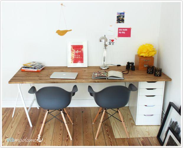 Schreibtischplatte holz  DIY-Schreibtisch, günstig & schnell den Schreibtisch selber bauen ...