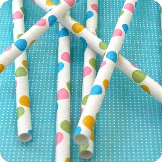 Confetti Polka Dot Straws, from Hey YoYo