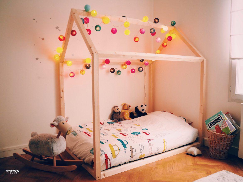 comment construire un lit maison seul maman louve chambre enfant house beds bed et kids. Black Bedroom Furniture Sets. Home Design Ideas
