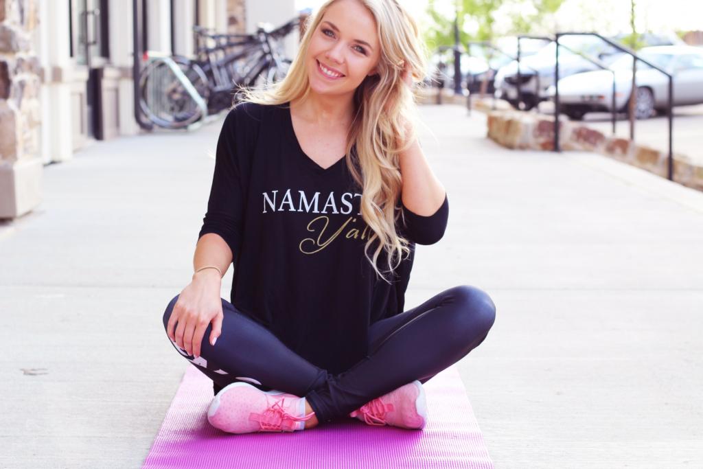 Yoga and athleisure wear    www.theglamorousteacher.com