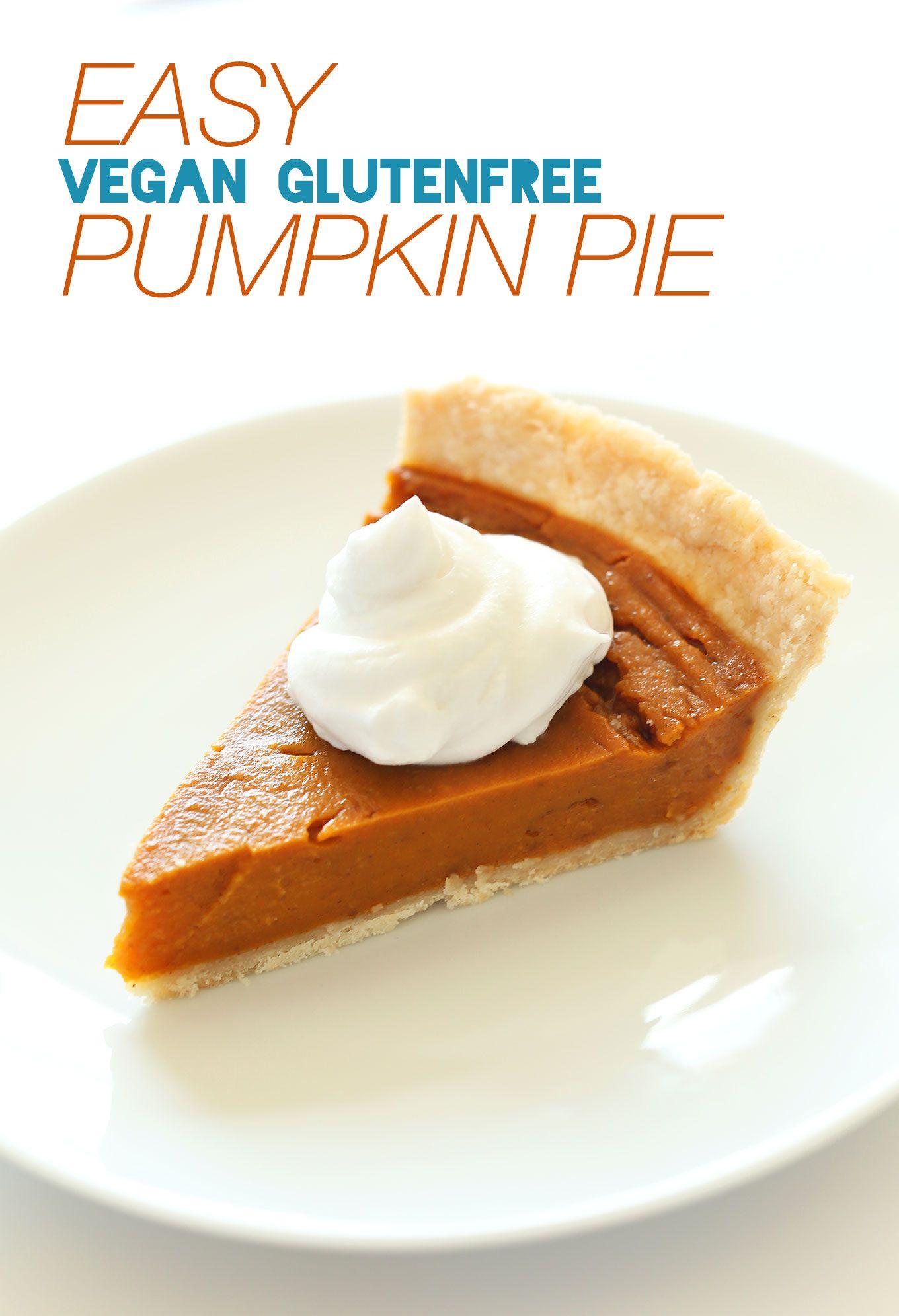 Vegan Gluten Free Pumpkin Pie Minimalist Baker Recipes Recipe Vegan Pumpkin Gluten Free Pumpkin Pie Gluten Free Pumpkin